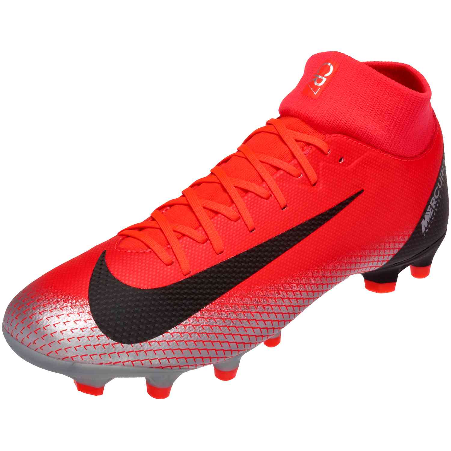 meet d94c5 c2ad1 Nike Mercurial Superfly 6 Academy FG – CR7 – Bright Crimson Black Chrome Dark  Grey