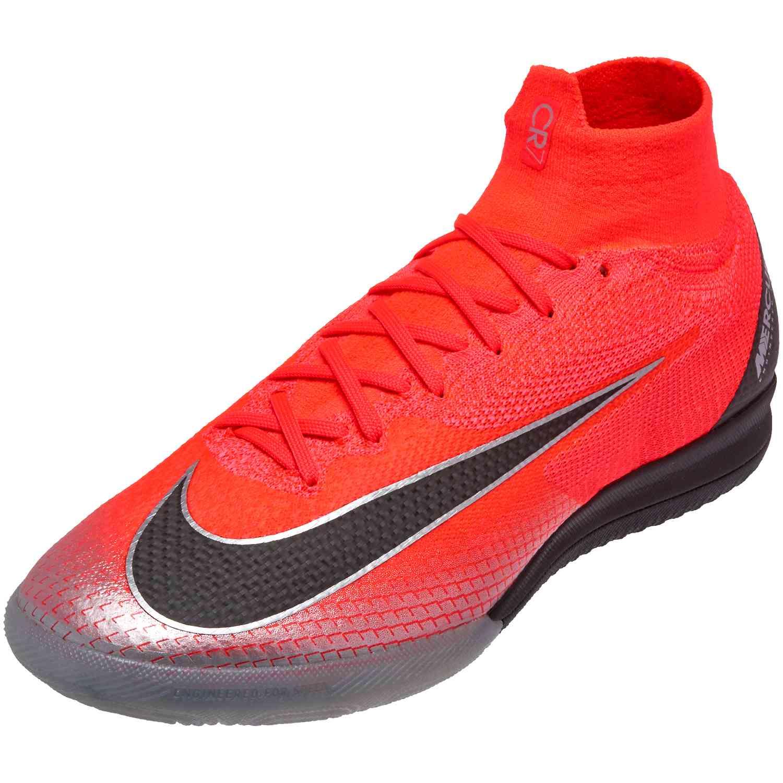 hot sale online 15b64 4b2c5 Nike Mercurial SuperflyX 6 Elite IC - CR7 - Flash Crimson/Black/Chrome/Dark  Grey