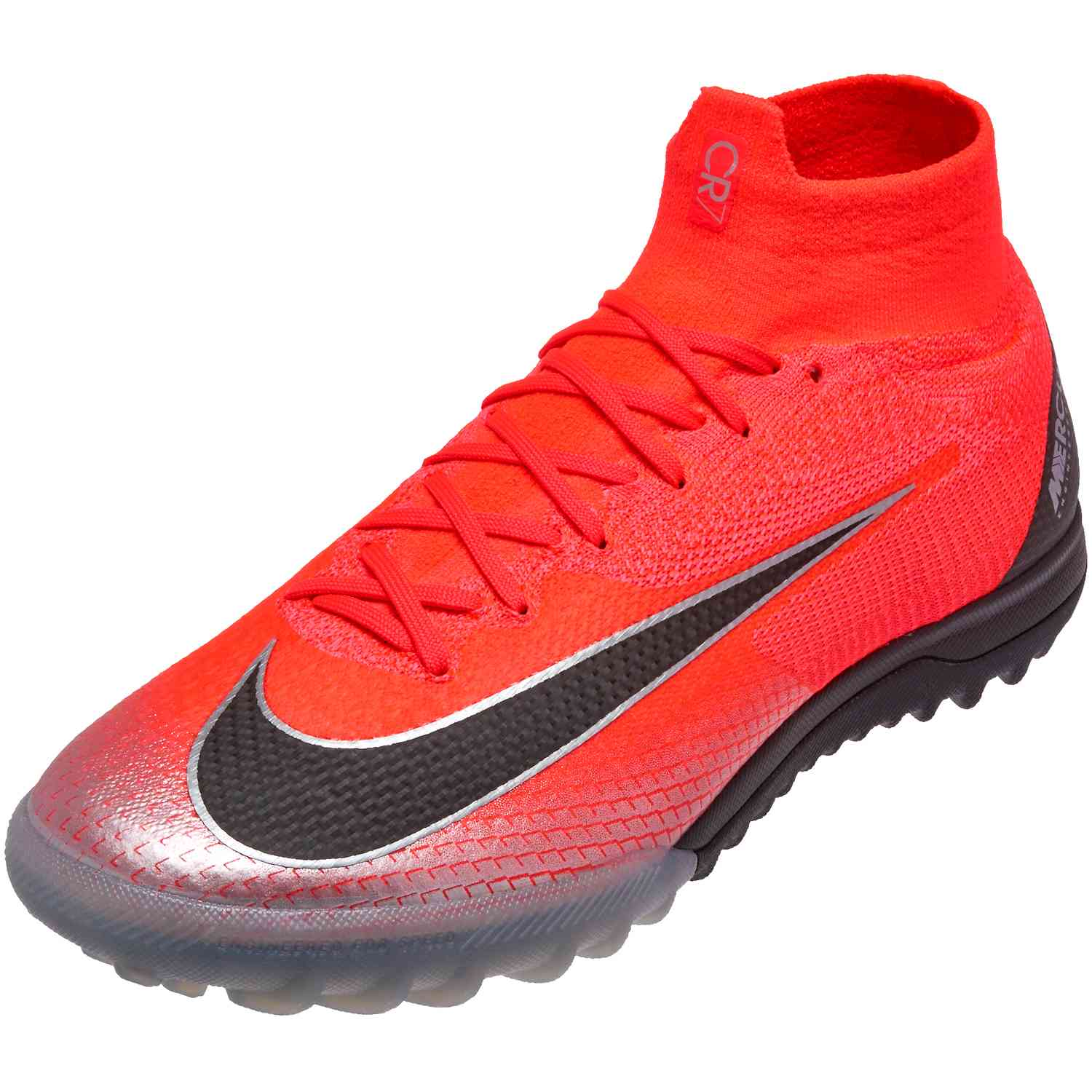f3d713791a7 Nike Mercurial SuperflyX 6 Elite TF – CR7 – Flash Crimson Black Chrome Dark  Grey