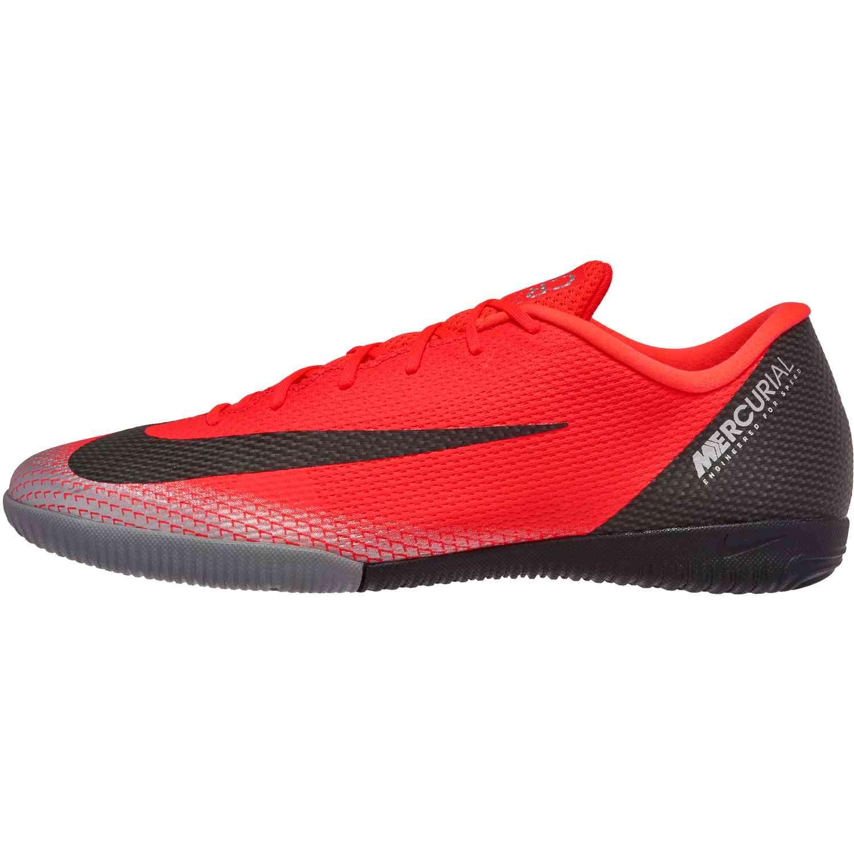 6b27dafaf8a1 Nike Mercurial VaporX 12 Academy IC - CR7 - Bright Crimson/Black ...