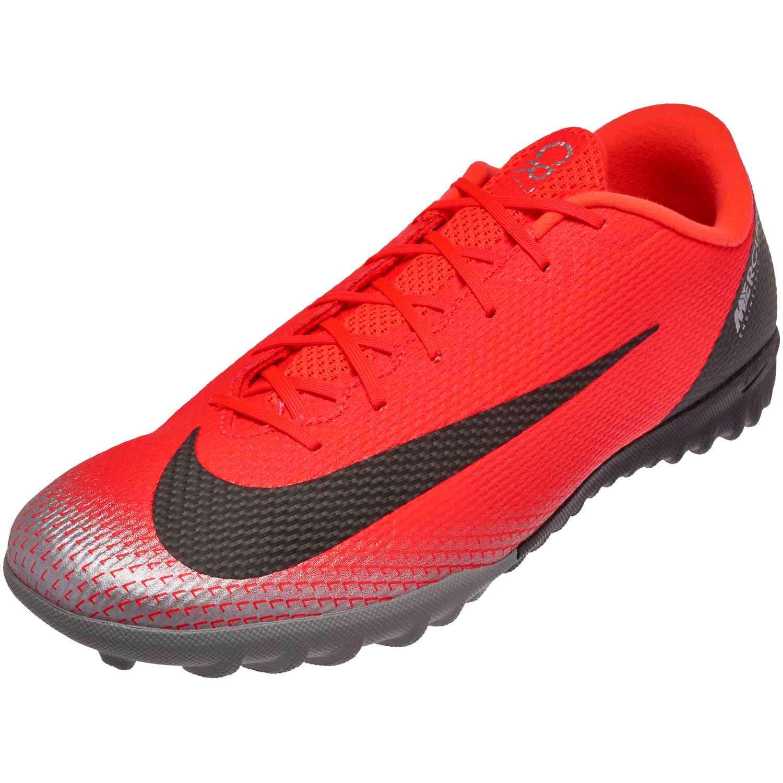 0d997e0e9 Nike Mercurial VaporX 12 Academy TF – CR7 – Bright Crimson Black Chrome Dark  Grey