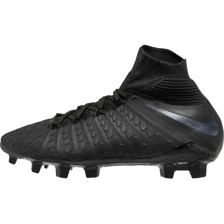 check out 6aff7 02767 Nike Hypervenom Phantom 3 Elite DF FG - Youth - Black/Black ...