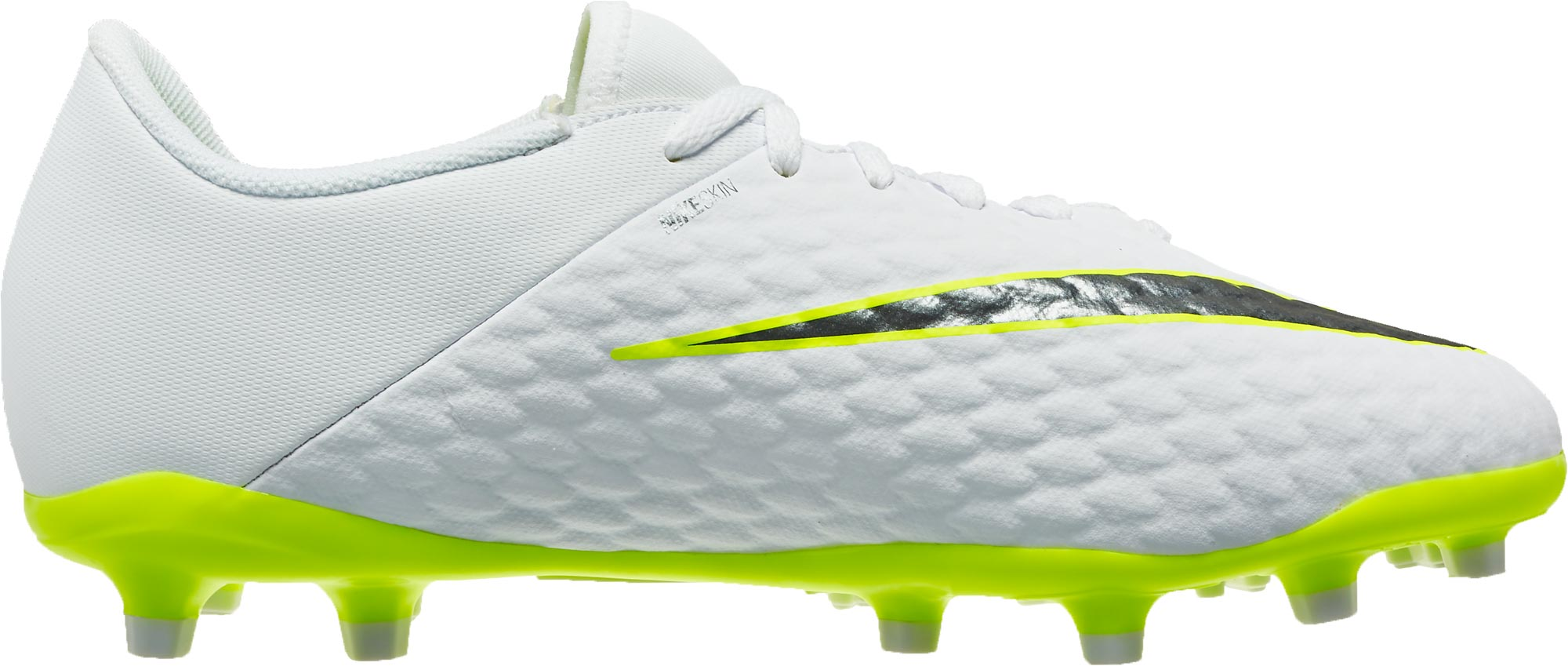 huge selection of 183ec 30ca9 Nike Hypervenom Phantom 3 Academy FG - Youth - White/Metallic Cool  Grey/Volt - Soccer Master