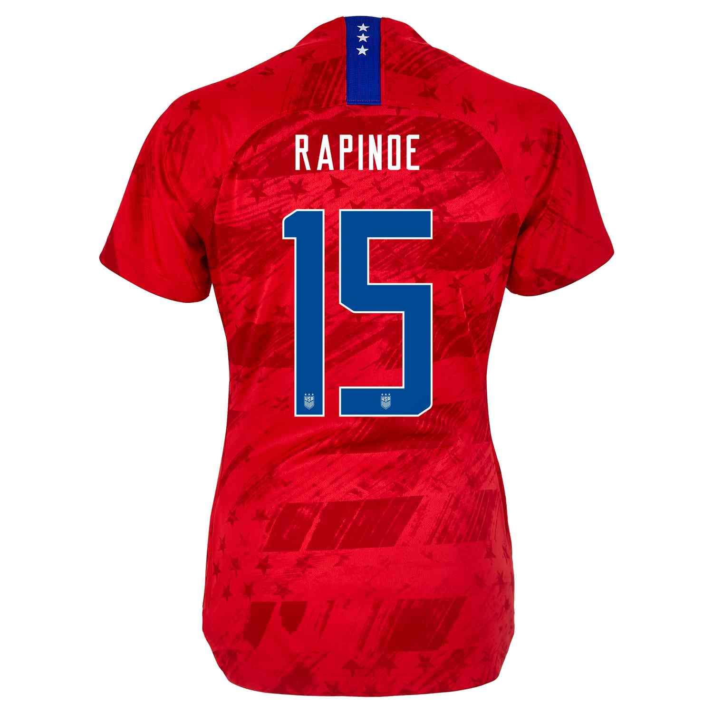 official photos 4e68f d25b9 2019 Womens Megan Rapinoe USWNT Away Jersey