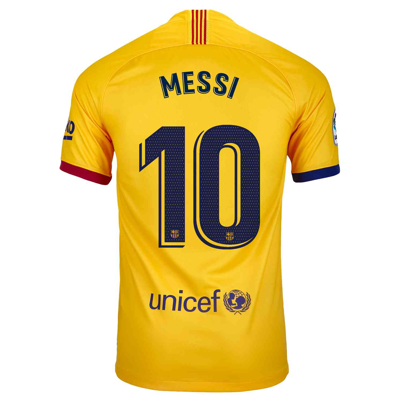 2019/20 Kids Lionel Messi Barcelona Away Jersey - Soccer ...