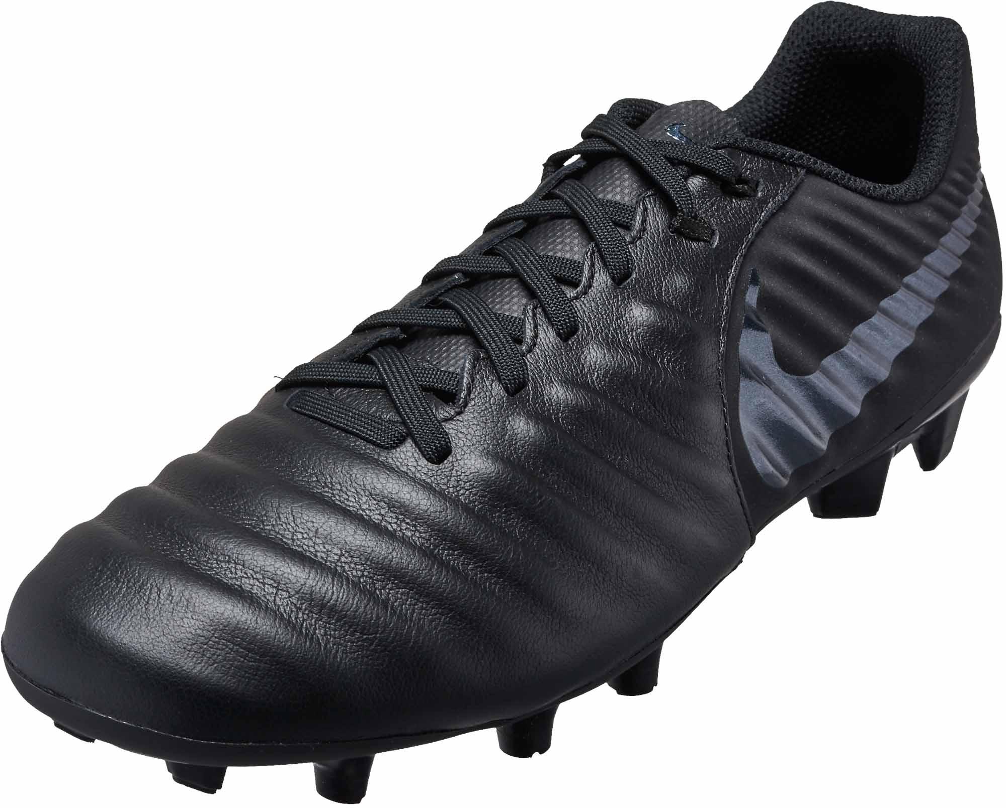 Nike Tiempo Legend 7 Academy MG - Black/Black - Soccer ...