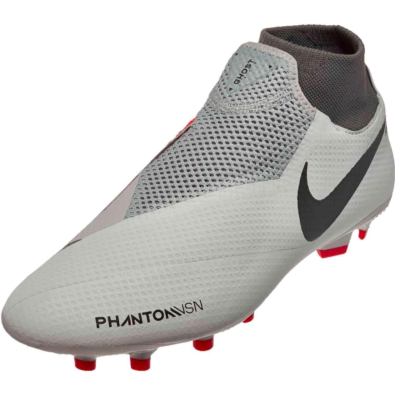 feb188ccbd33 Nike Phantom Vision Pro FG – Pure Platinum/Black/Light Crimson/Dark Grey