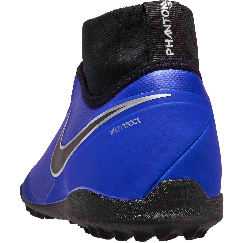 e60c72ad877 Nike Phantom Vision Pro TF - Racer Blue Black Metallic Silver Volt ...