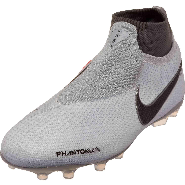 c86f19c5643 Kids Nike Phantom Vision Elite MG – Youth – Pure Platinum Black Light  Crimson Dark Grey