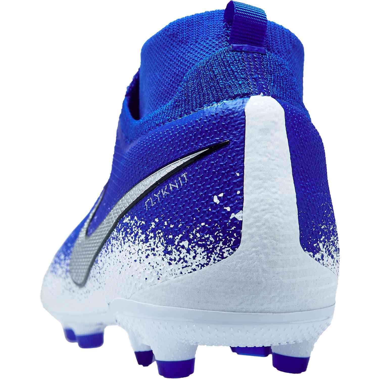 Chaussures football Nike Phantom Vision Pro DF FG Bleu Gris