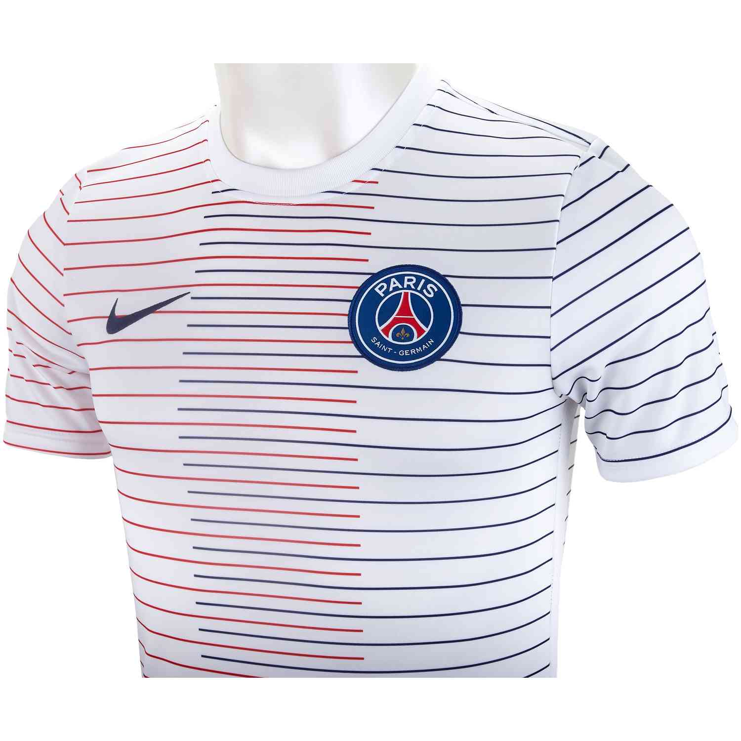 purchase cheap ace76 f1e12 Nike PSG Pre-match Training Top - White - Soccer Master