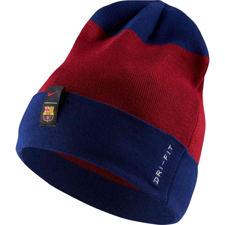 new arrival 51cfb d2d51 Nike Barcelona Beanie – Noble Red Deep Royal Blue