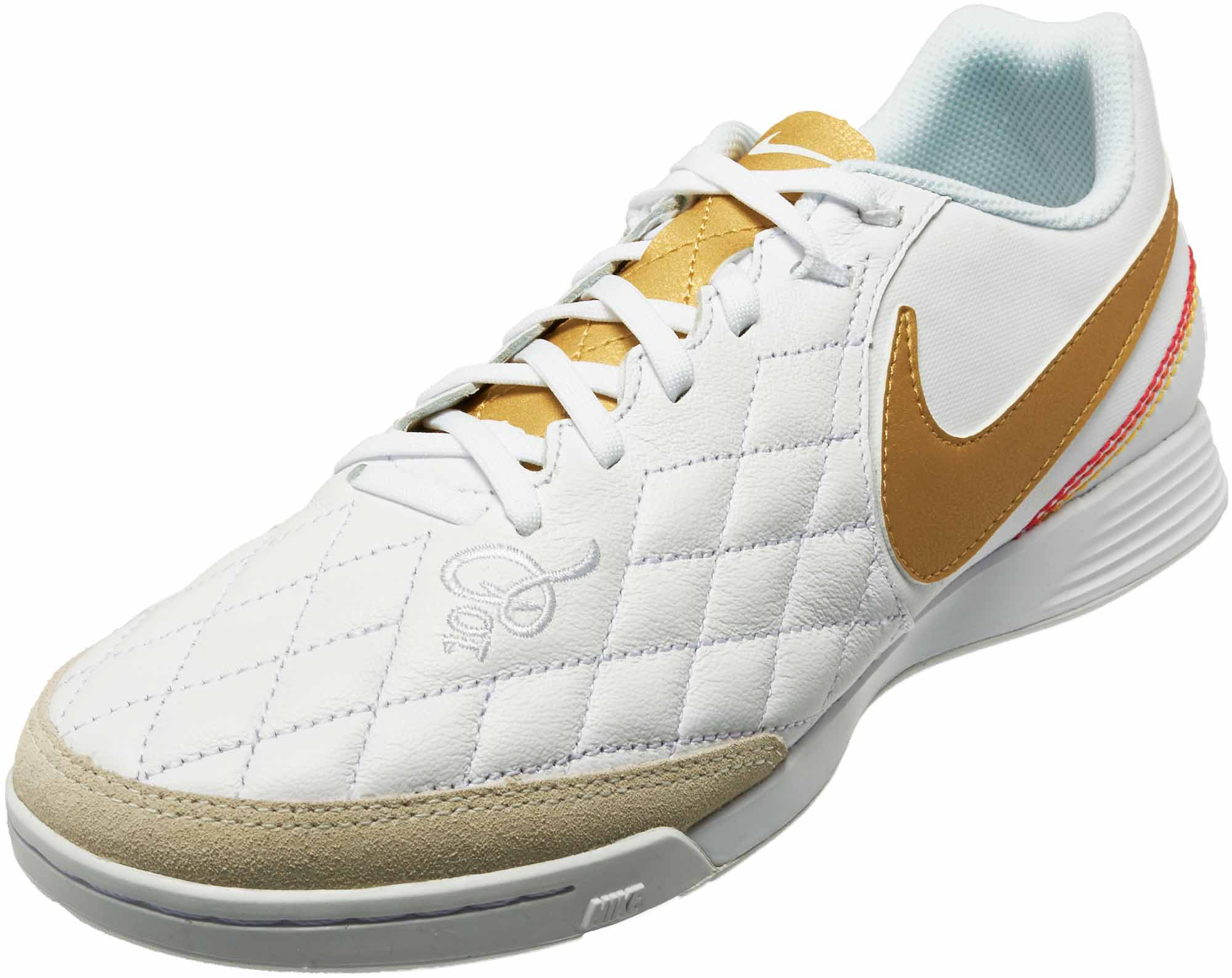 81a90a11bf8 Nike 10R Lunar TiempoX Legend 7 Academy IC - White Metallic Gold ...