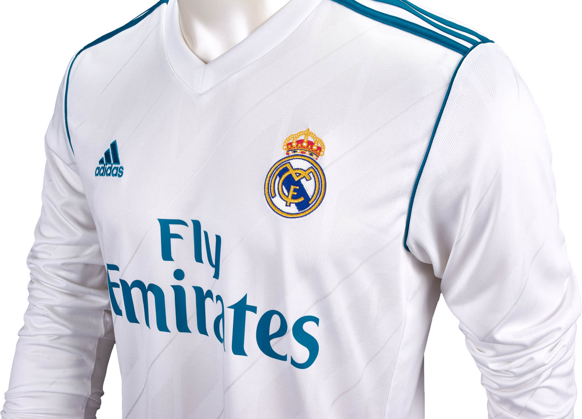 best service b629b 03c2f adidas Real Madrid L/S Home Jersey 2017-18 - Soccer Master