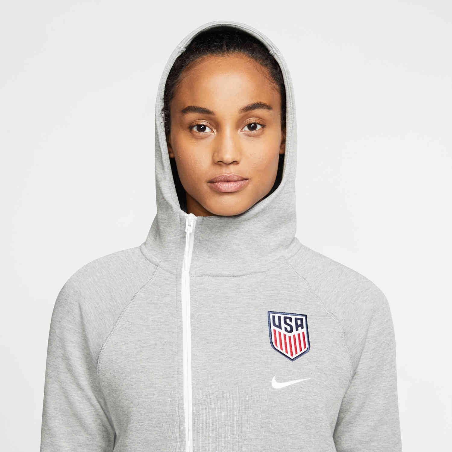 Women S Nike Uswnt Tech Fleece Hoodie Dark Grey Heather Soccer Master