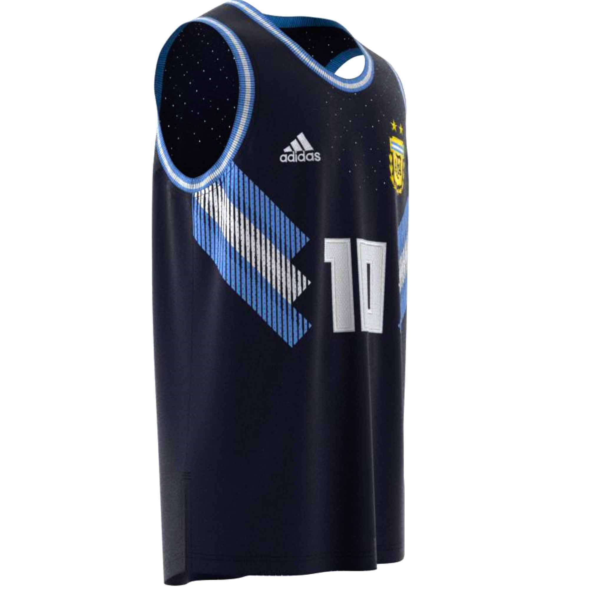 reputable site c022f 762ad adidas Argentina Basketball Jersey 2018-19 - Soccer Master