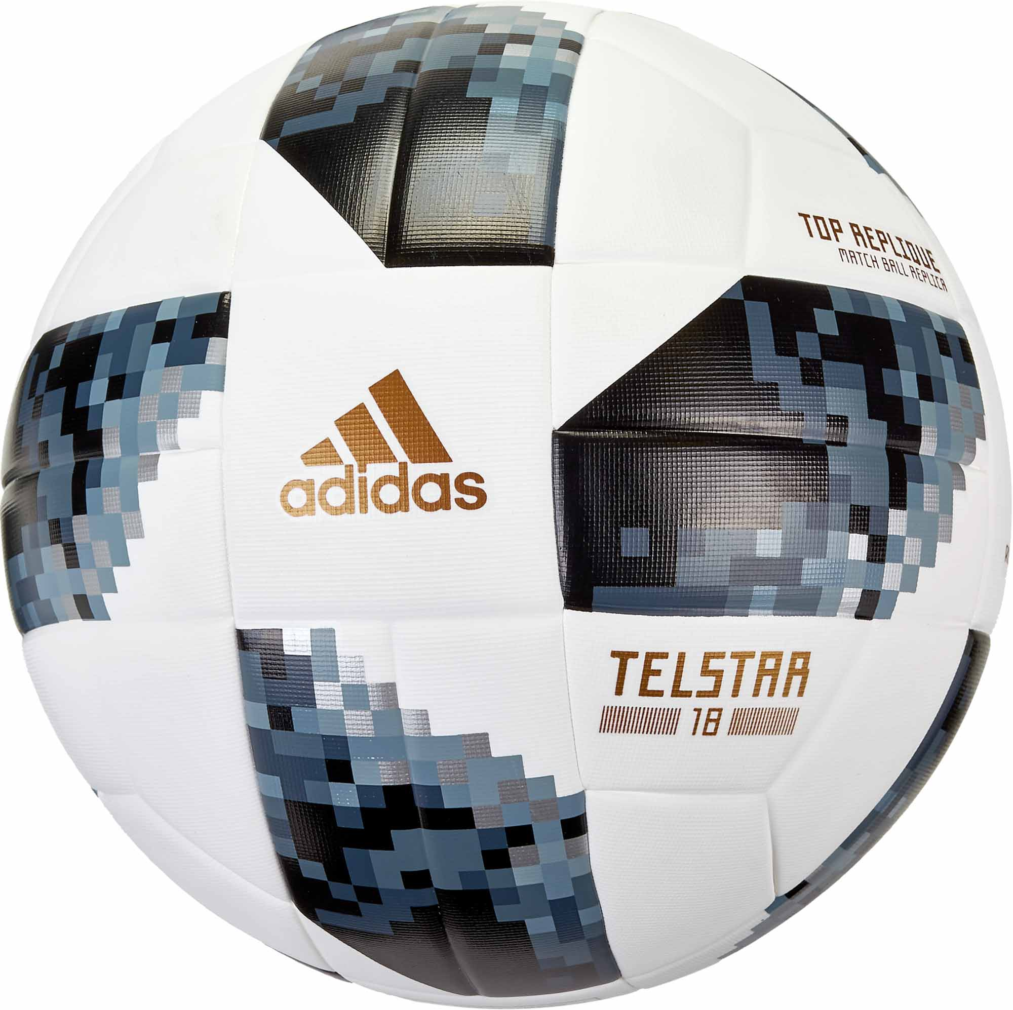 new products 3fcf0 e05bd adidas Telstar 18 World Cup Top Replique Soccer Ball – White   Metallic  Silver
