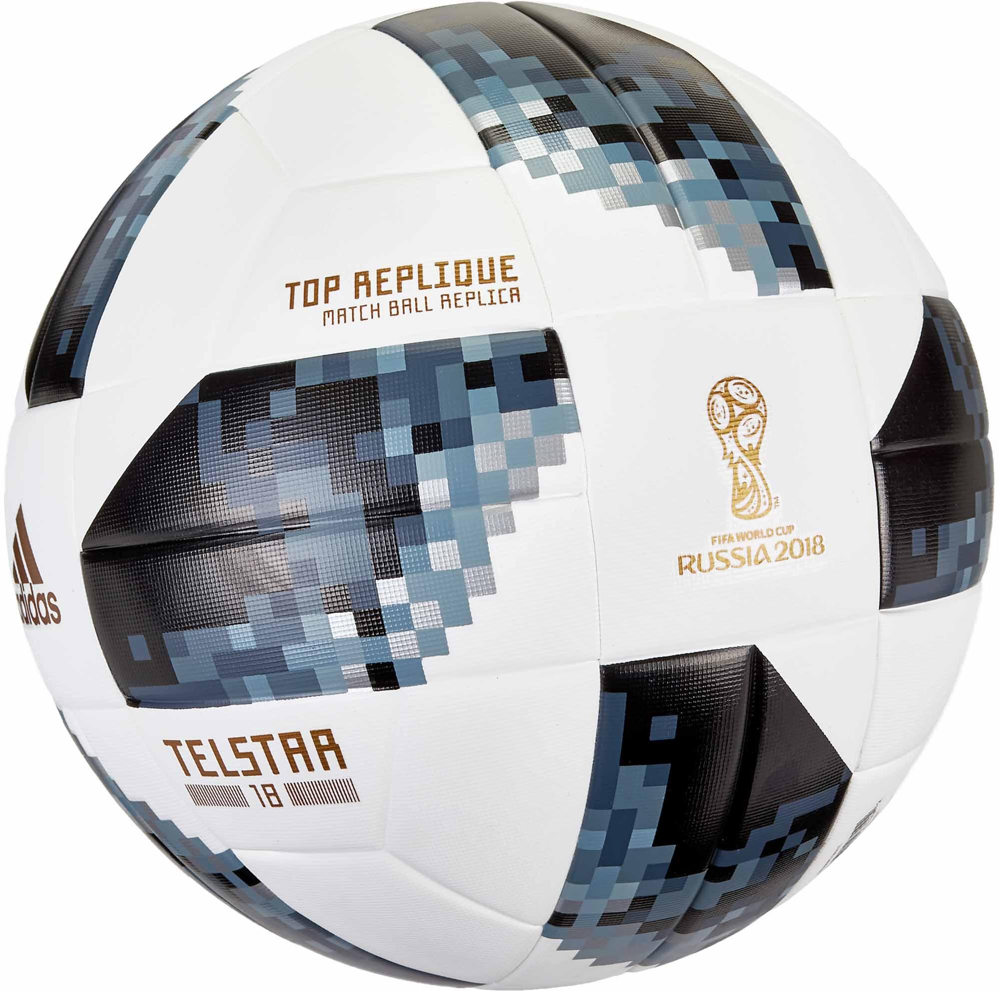 Organo Generalmente frase  adidas Telstar 18 World Cup Top Replique Soccer Ball - White & Metallic  Silver - Soccer Master