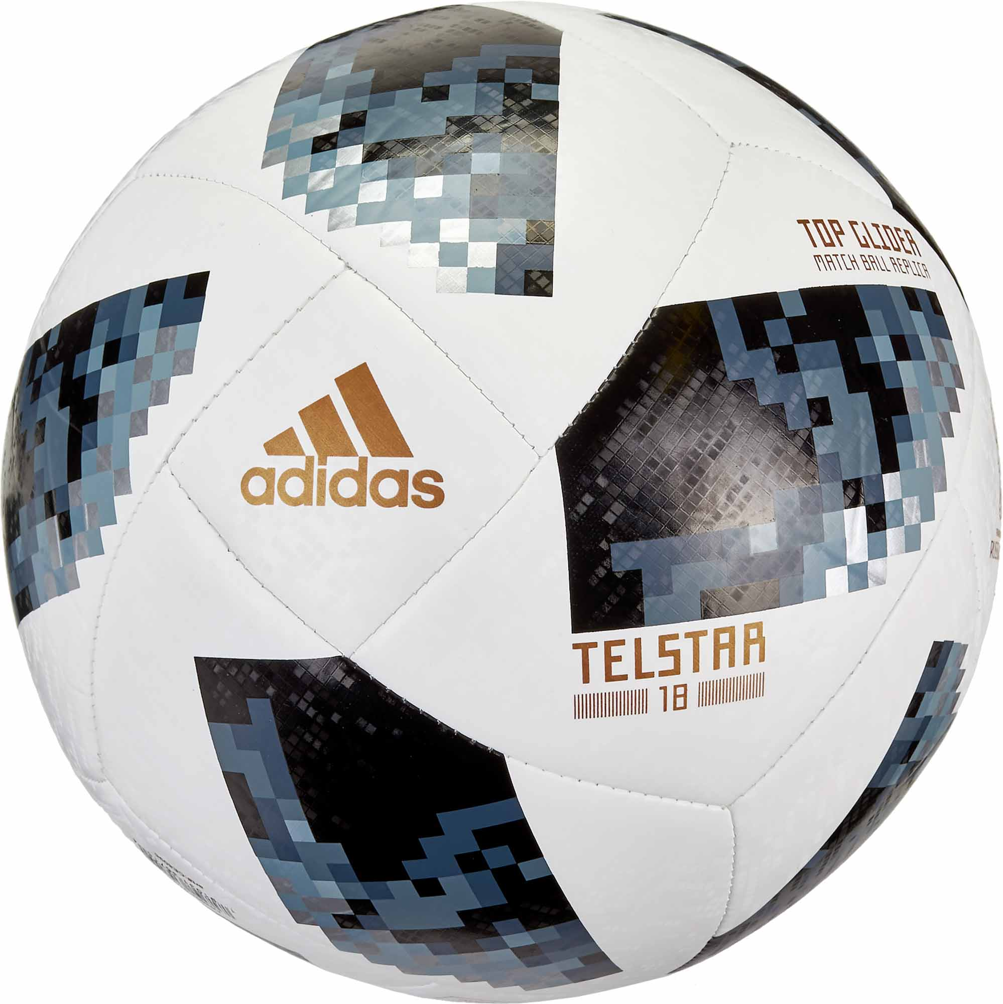 6a19648307a adidas Telstar 18 World Cup Top Glider Soccer Ball – White   Metallic Silver
