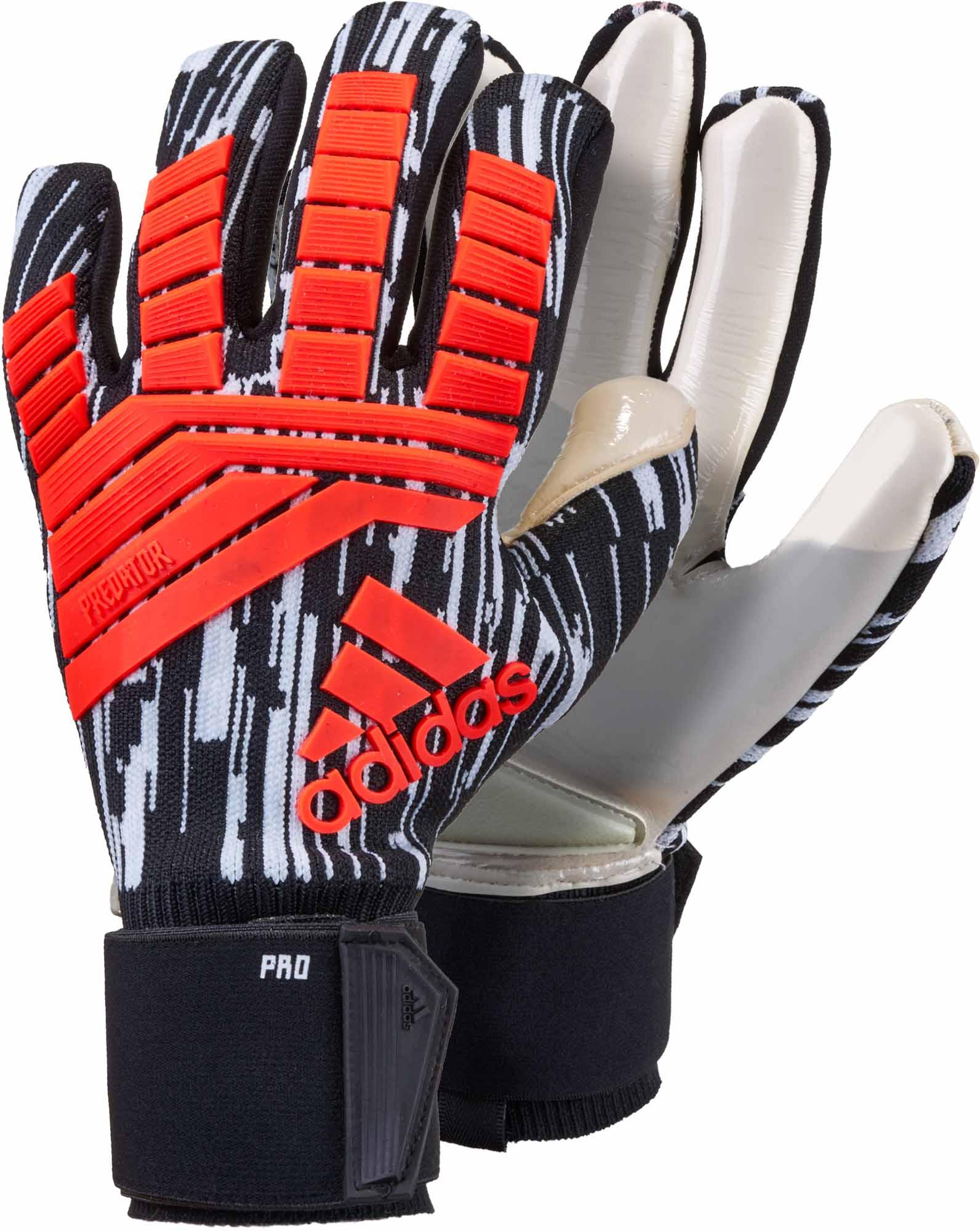 0acaf90fb adidas Predator Pro Goalkeeper Gloves – Manuel Neuer – Solar Red & Black