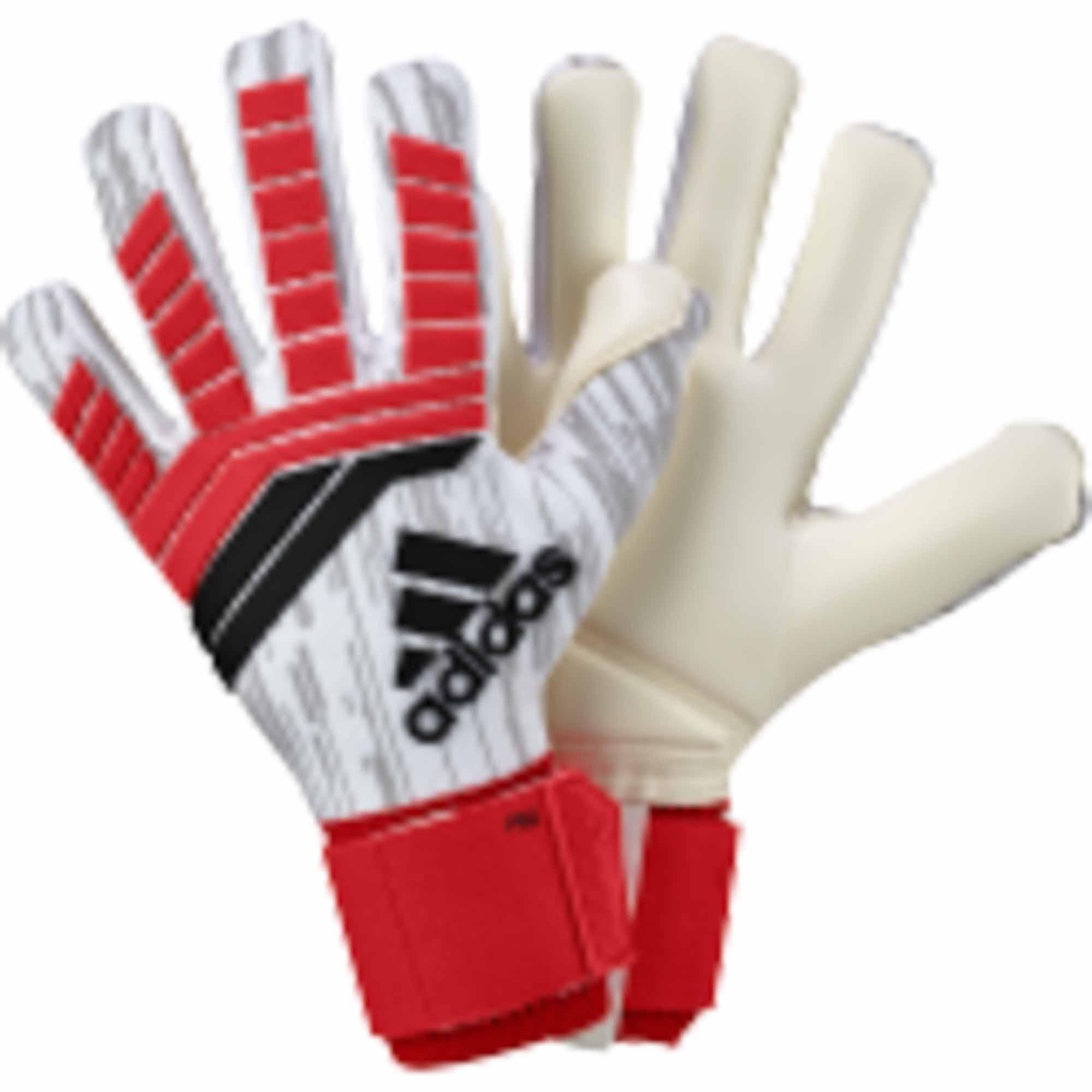 adidas Predator Pro Goalkeeper Gloves - Real Coral & Black ...