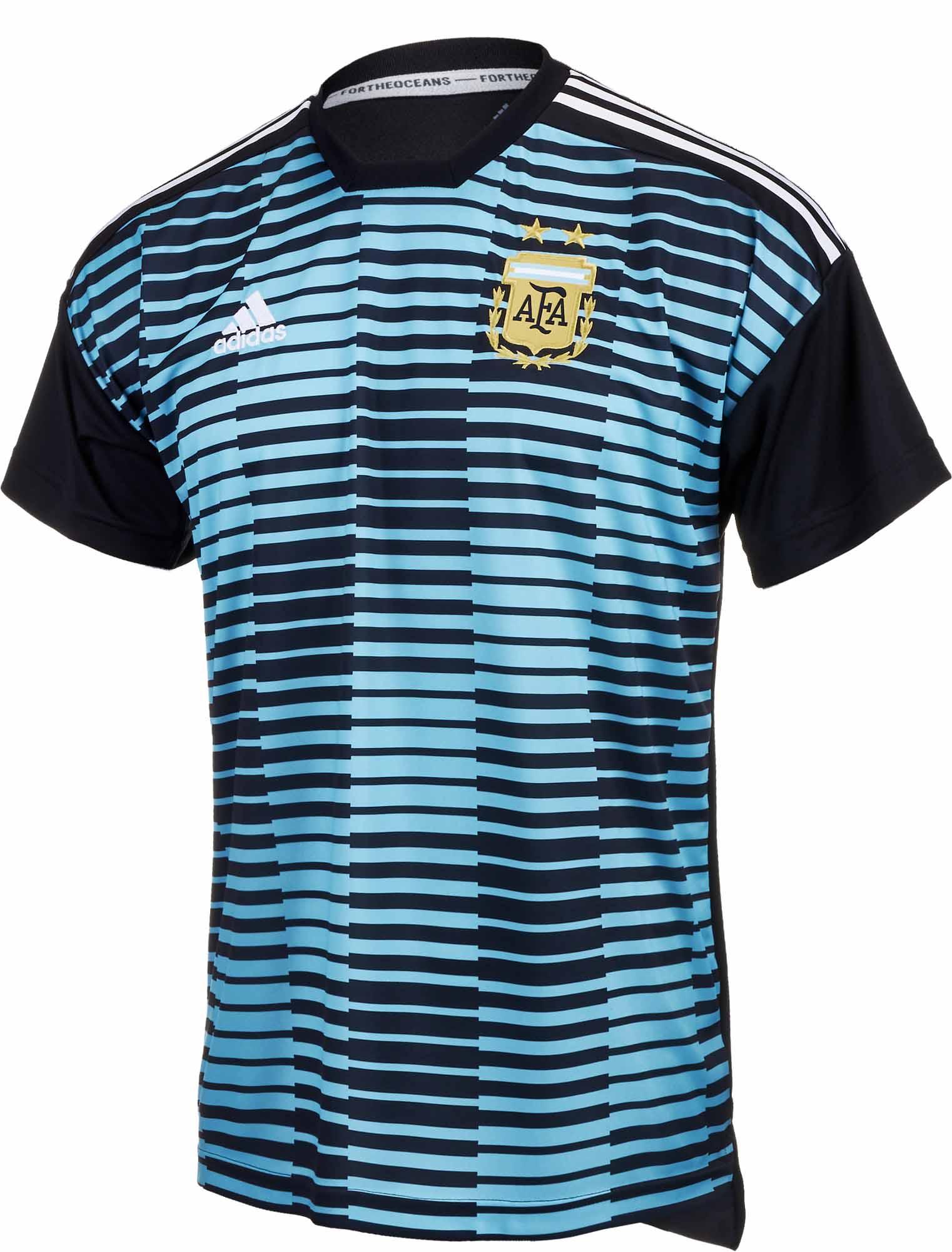 34cbd65cf409 adidas Argentina Pre-match Jersey - Blue   Black - Soccer Master