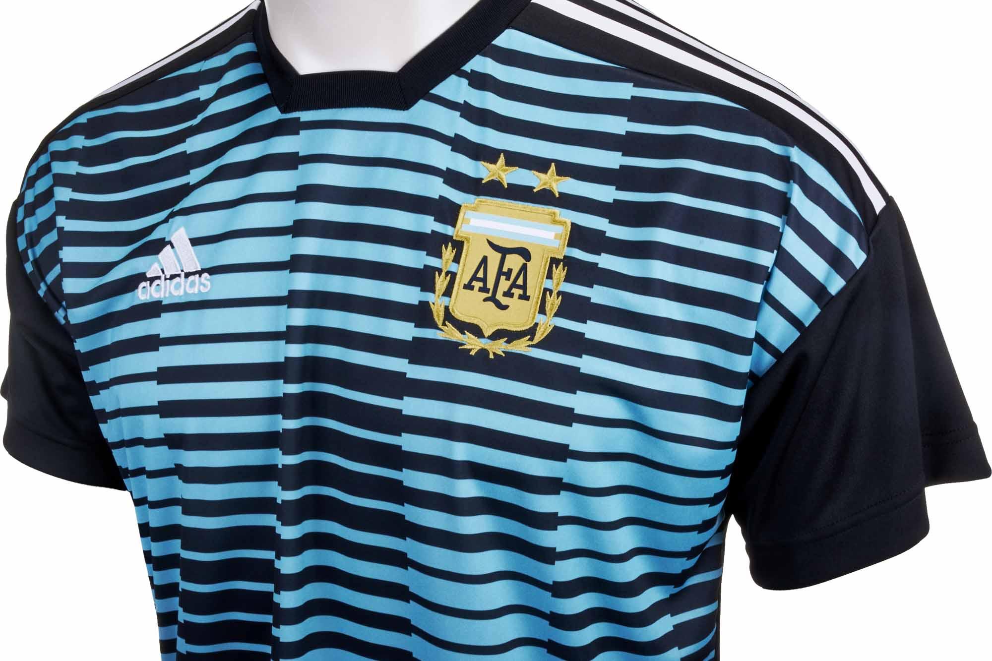 adidas Argentina Pre-match Jersey - Blue & Black - Soccer Master