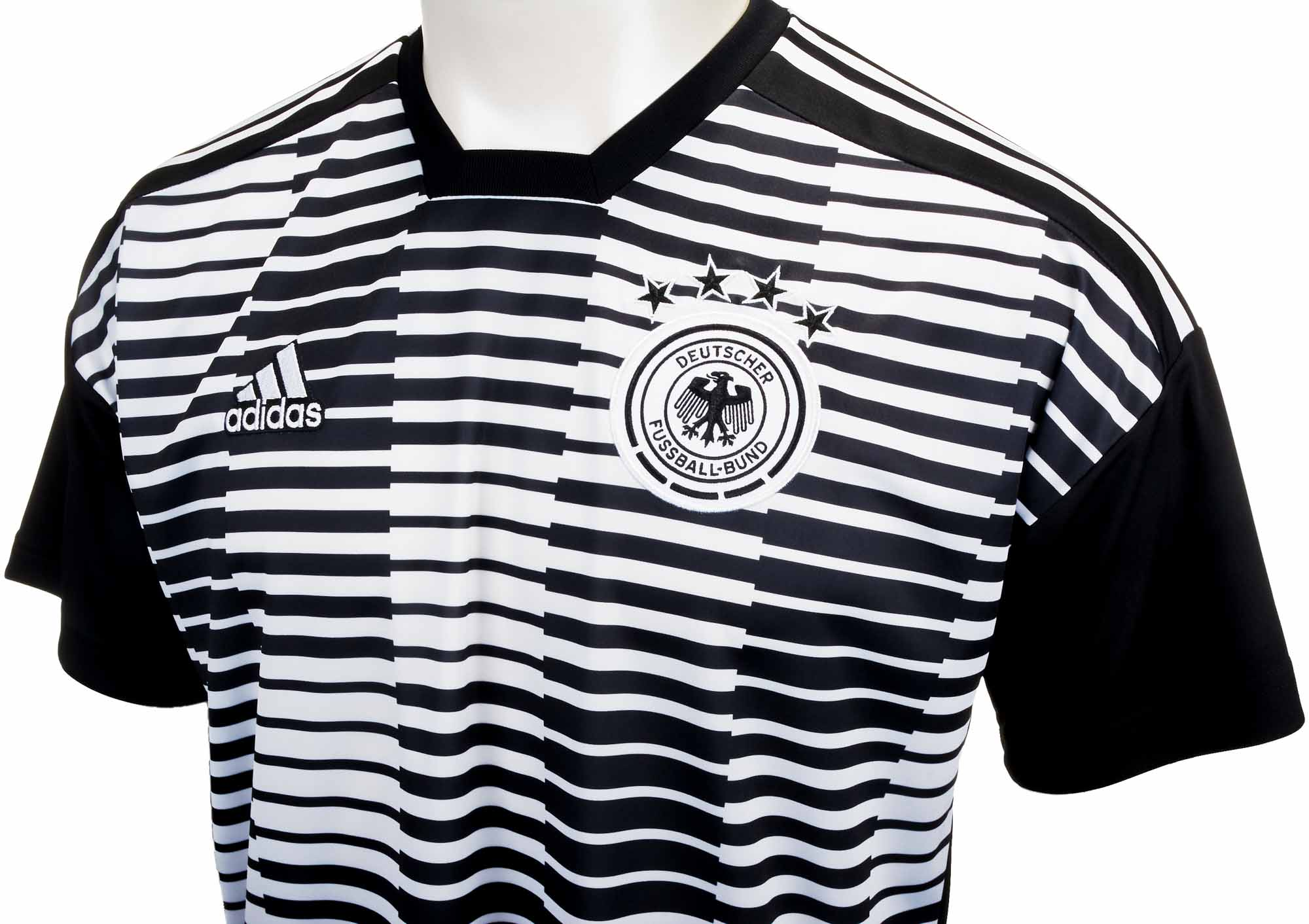 42a40765486 Kids adidas Germany Pre-match Jersey - White   Black - Soccer Master
