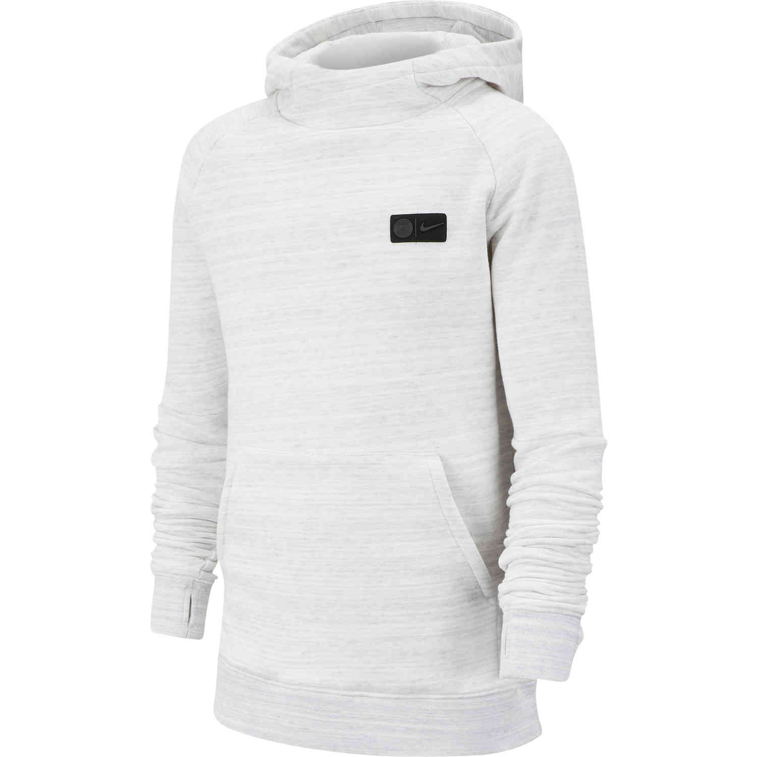 conductor Empuje hacia abajo dialecto  Kids Nike PSG Pullover Fleece Hoodie - White & Wolf Grey with ...