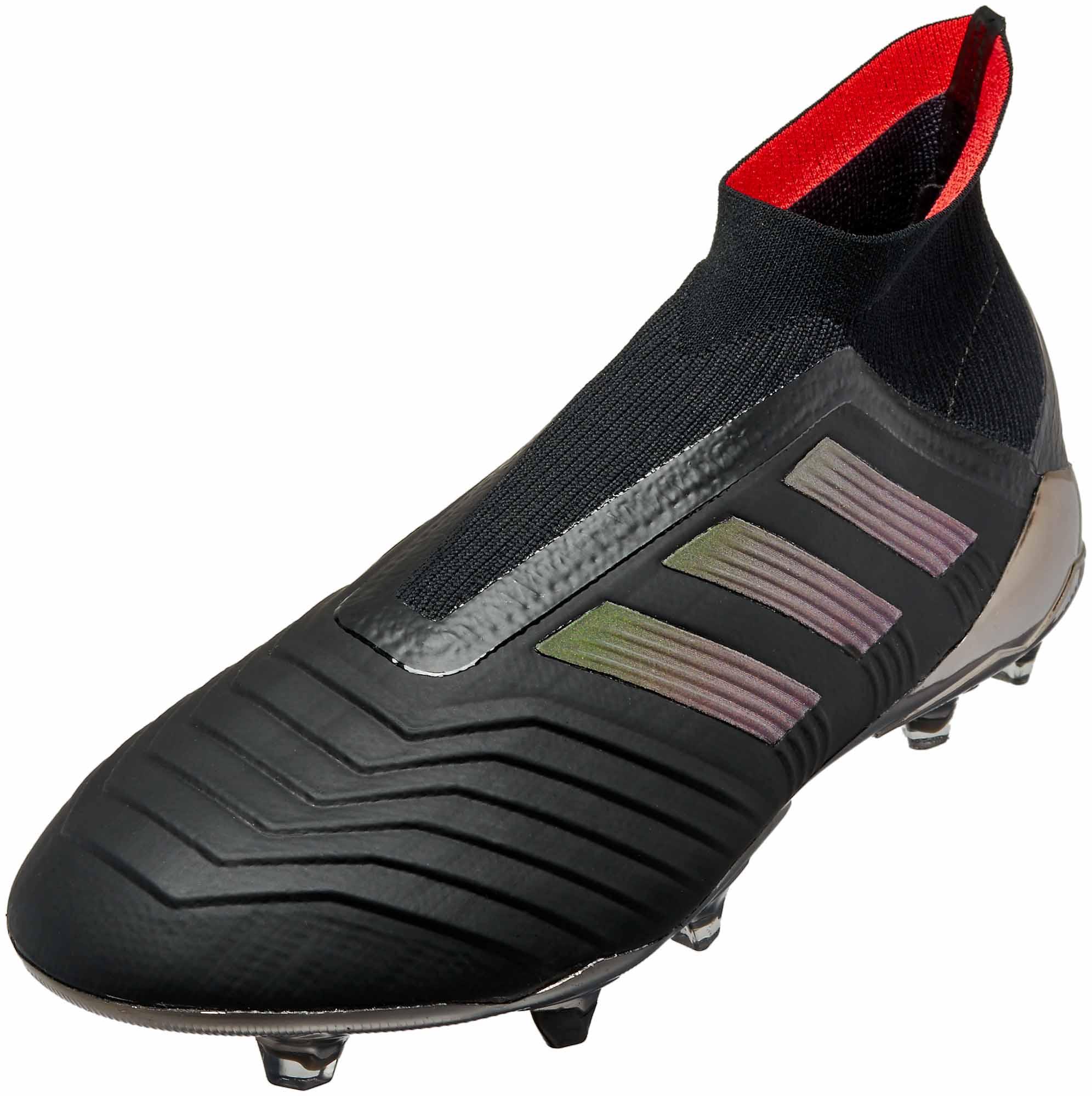 dd3940dec480 adidas Predator 18+ FG - Black   Real Coral - Soccer Master