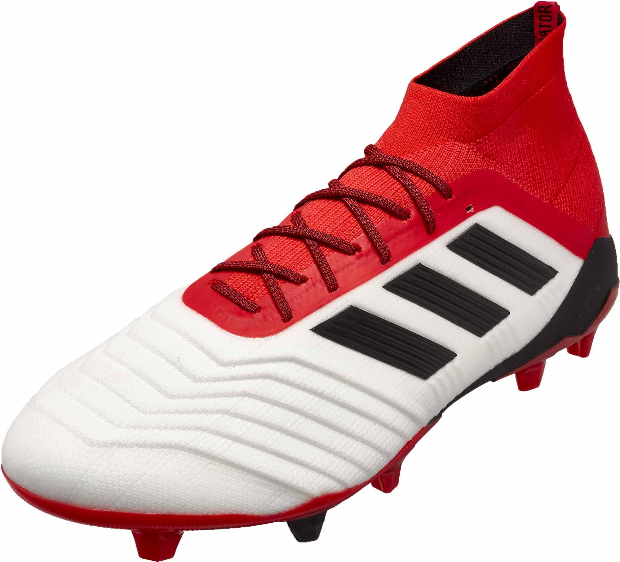 c736dab4fd9 adidas Predator 18.1 FG - White   Real Coral - Soccer Master