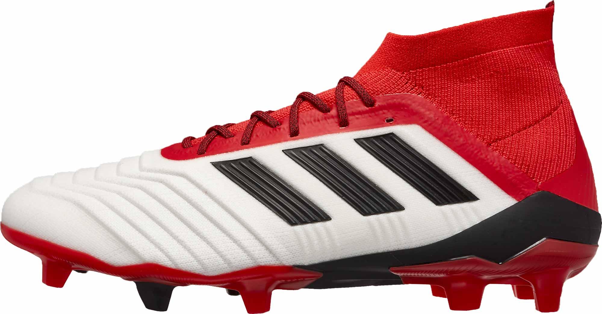 27f4078b7 adidas Predator 18.1 FG - White   Real Coral - Soccer Master
