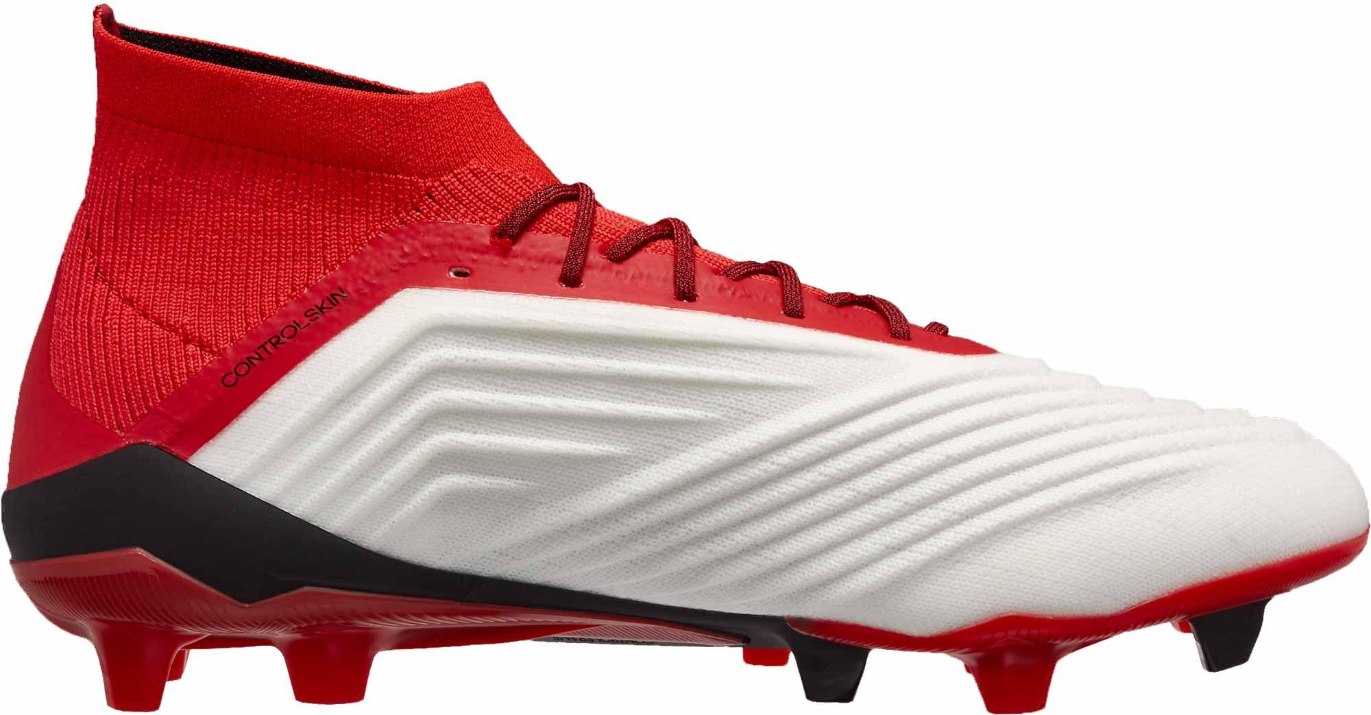 50c27a11ac1 adidas Predator 18.1 FG - White   Real Coral - Soccer Master