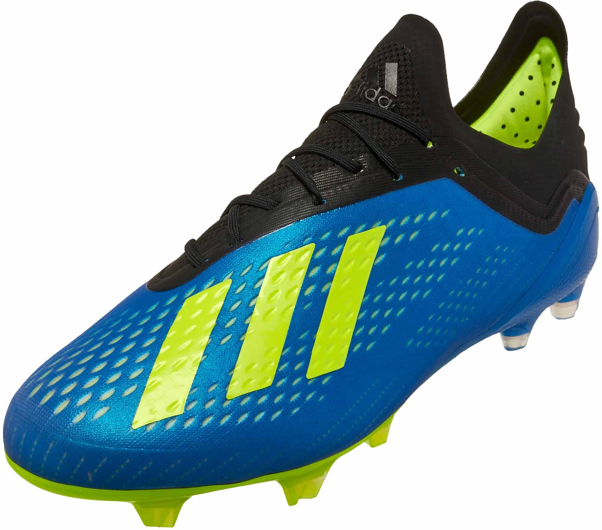 adidas X 18.1 FG - Football Blue Solar Yellow Black - Soccer Master ea1a73e2f90