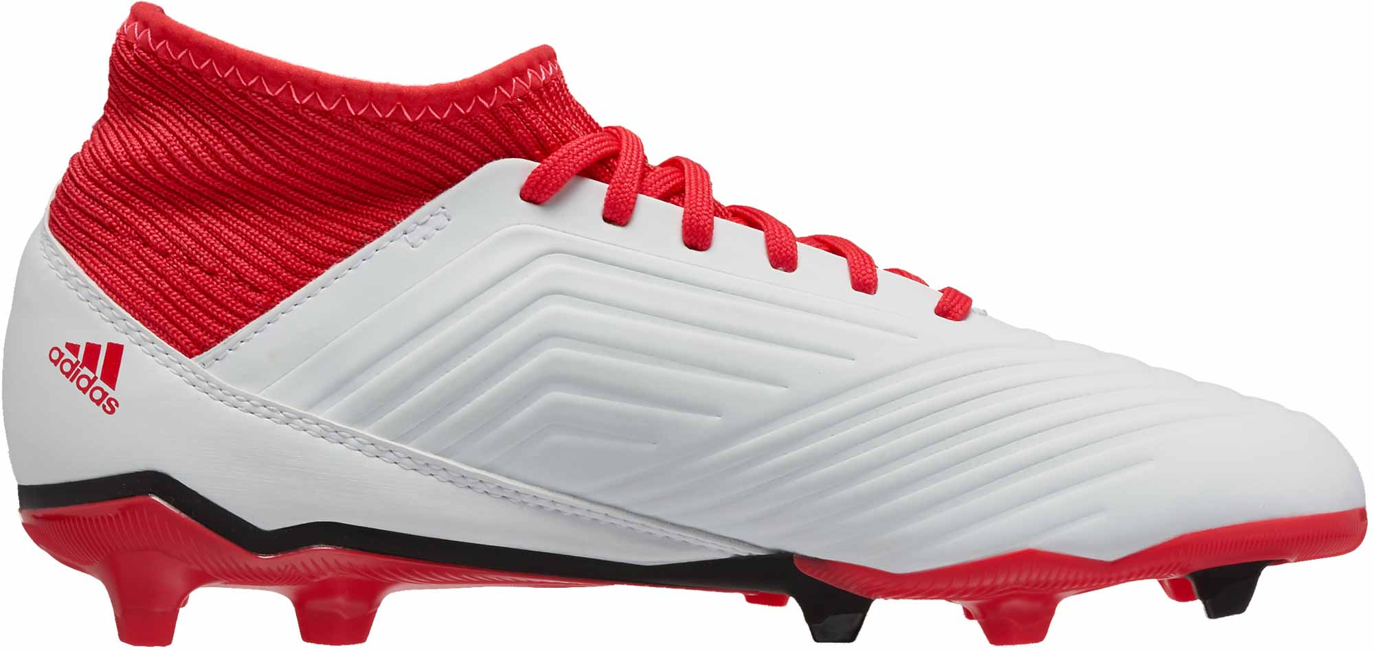 e3718178f0e adidas Kids Predator 18.3 FG - White   Real Coral - Soccer Master