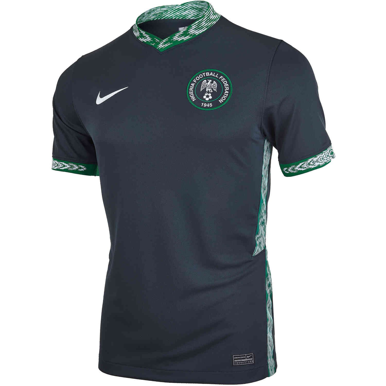 Mens Nigeria Away Jersey - Seaweed/White