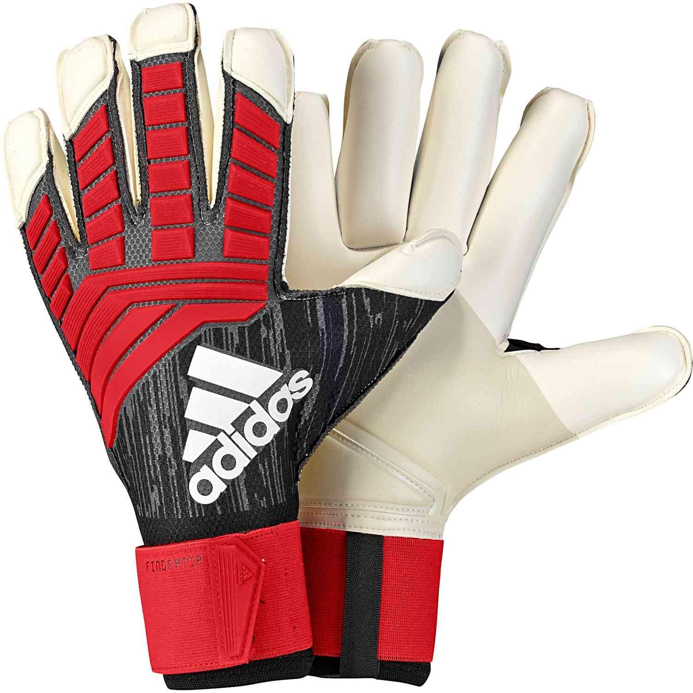adidas Predator Fingertip Goalkeeper Gloves - Black Red - Soccer Master 569e4746aa