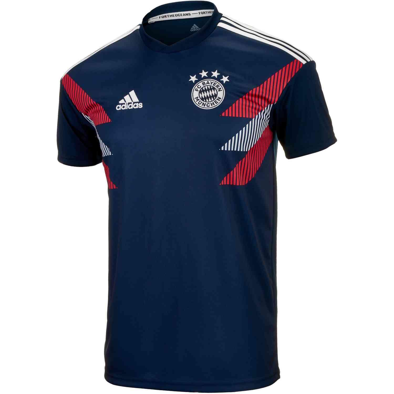 cheaper 1eb71 c72a9 adidas Bayern Munich Home Pre Match Jersey 2018-19