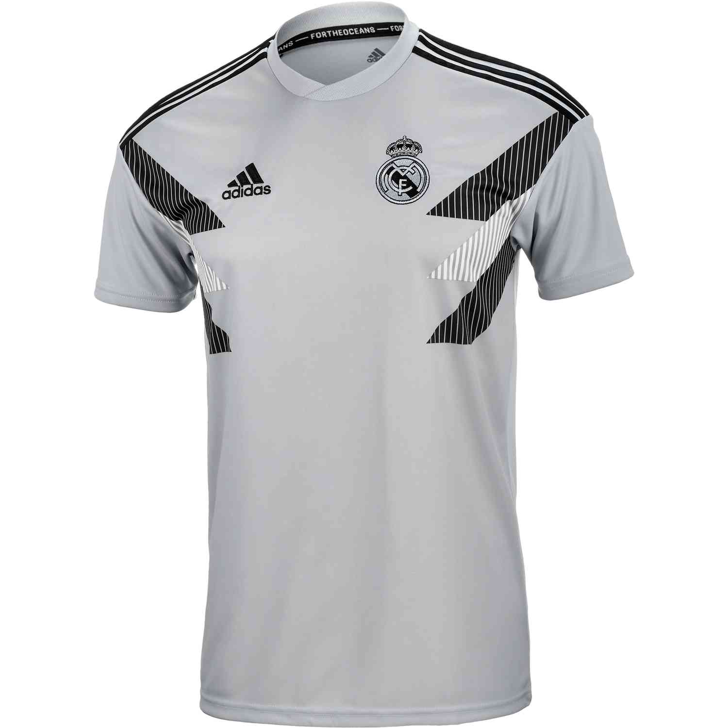ca4b6bc511d adidas Real Madrid Home Pre Match Jersey - Stone Black - Soccer Master