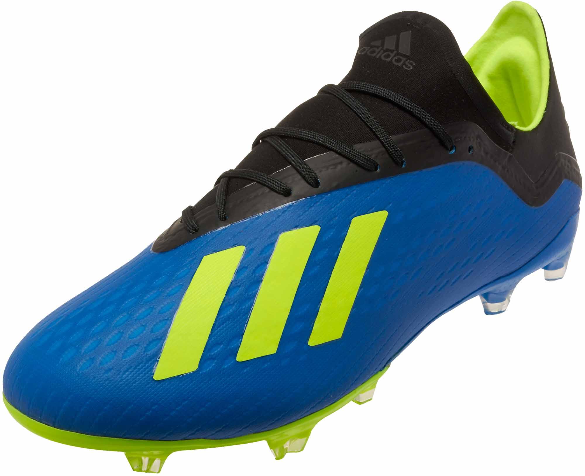 Adidas X 182 Fg Football Bluesolar Yellowblack