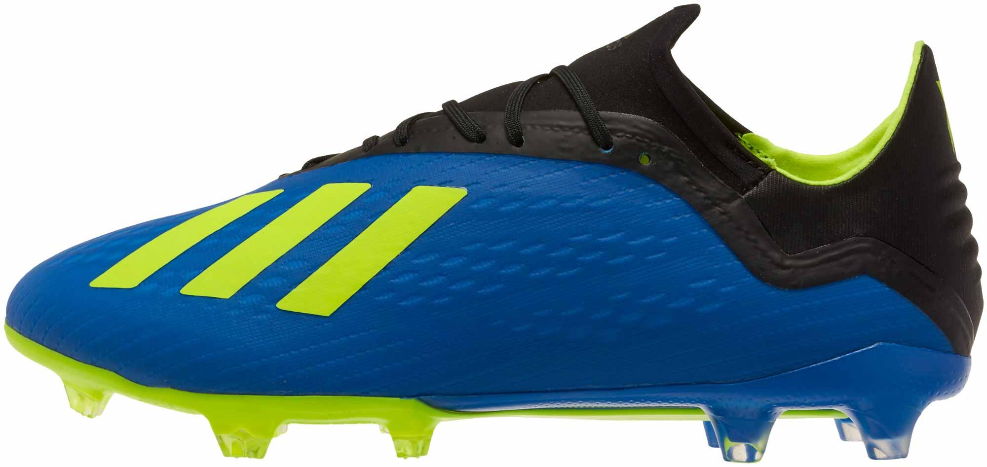 pretty nice 83a65 34345 adidas X 18.2 FG - Football Blue/Solar Yellow/Black - Soccer Master