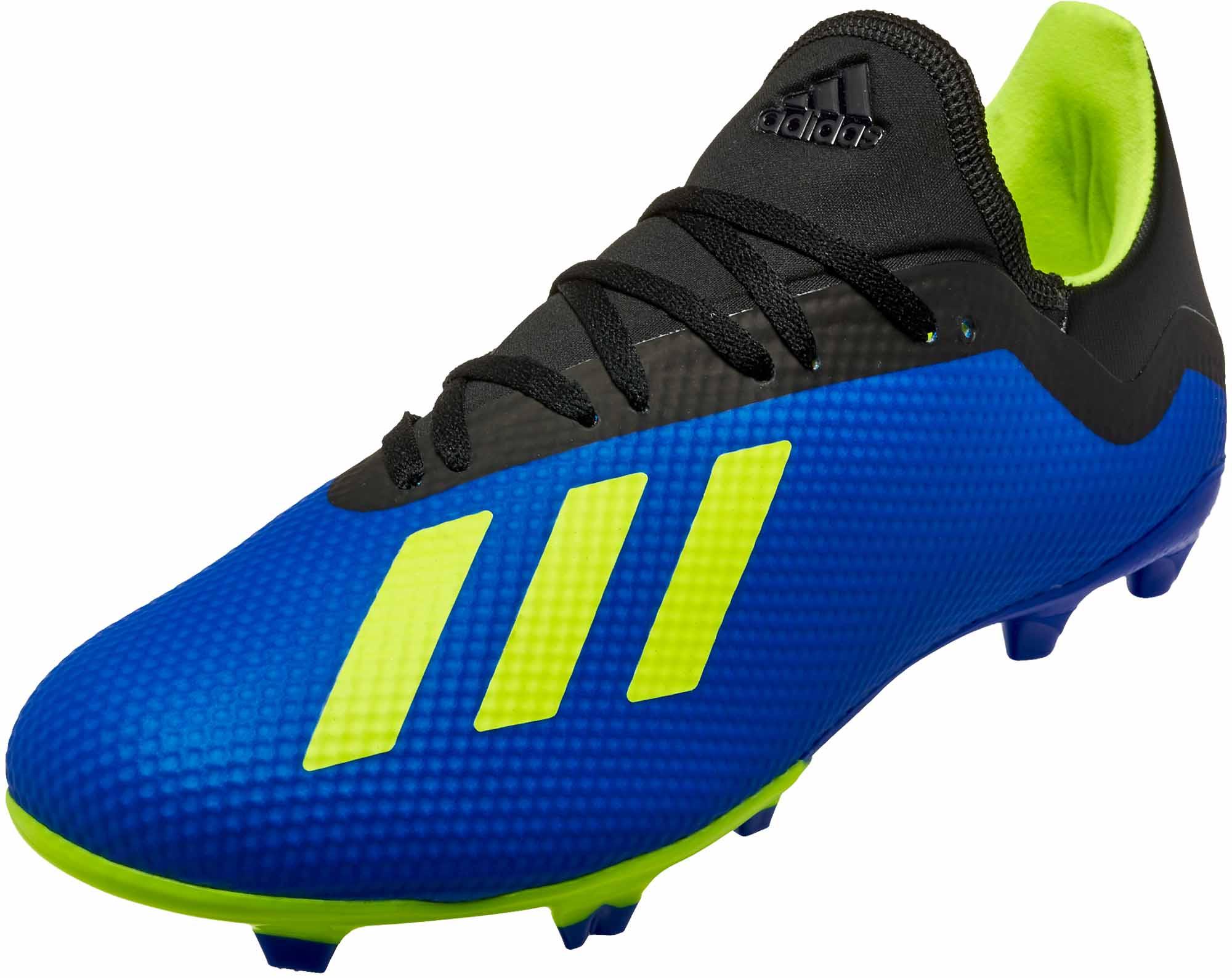 abd1dd202 adidas X 18.3 FG - Football Blue Solar Yellow Black - Soccer Master