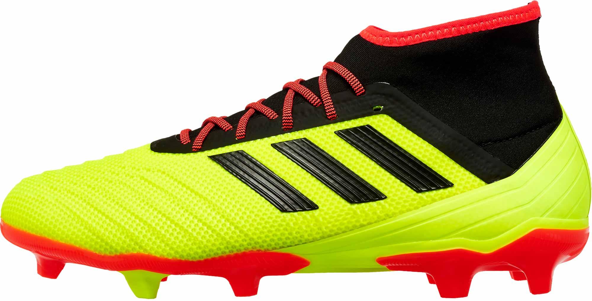super cute new release latest design adidas Predator 18.2 FG - Solar Yellow/Black/Solar Red - Soccer Master