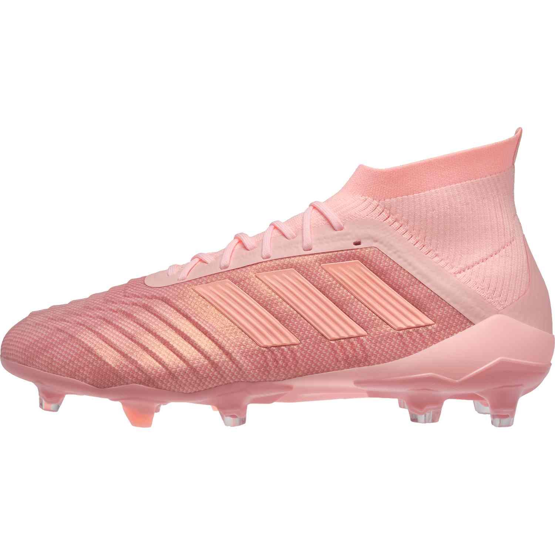 sale retailer e99f3 debb7 adidas Predator 18.1 FG - Clear OrangeTrace Pink - Soccer Ma