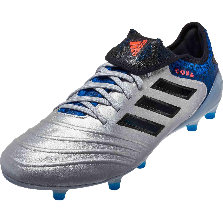 best cheap 4c48b 66316 adidas Copa 18.1 FG – Silver MetallicBlackFootball Blue