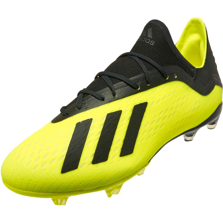ecafeb5d4b31 adidas X 18.2 FG - Solar Yellow Black White - Soccer Master