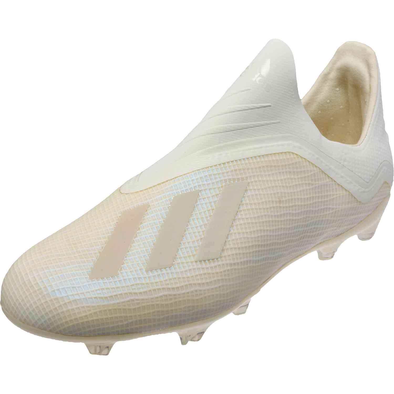 Kids adidas X 18+ FG - Youth - Off White Black - Soccer Master e8971a02eb11