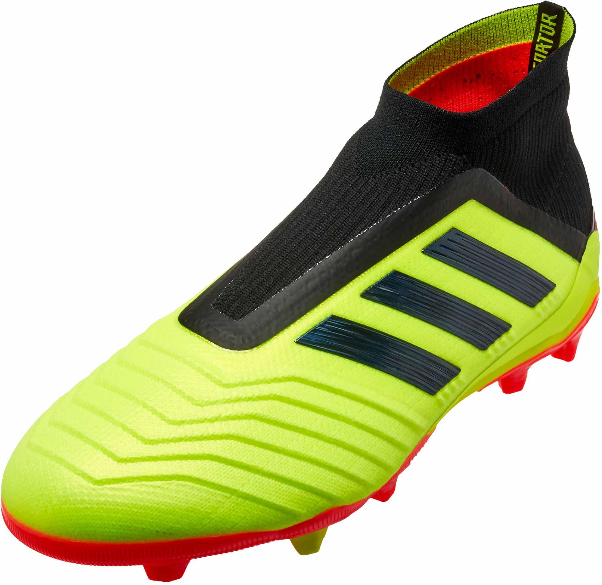 the latest c760a fc570 adidas Predator 18+ FG – Youth – Solar YellowBlackSolar Red