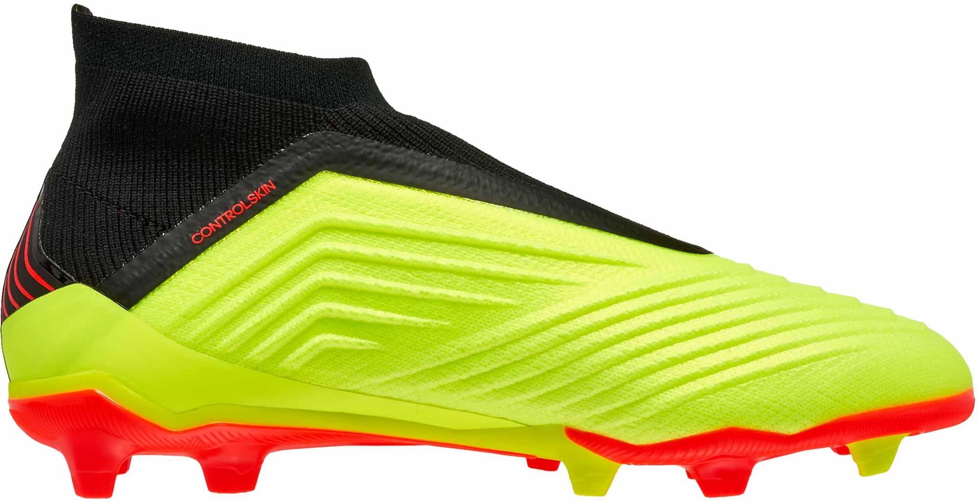 adidas Predator 18+ FG - Youth - Solar Yellow Black Solar Red ... a48a60ee07f4