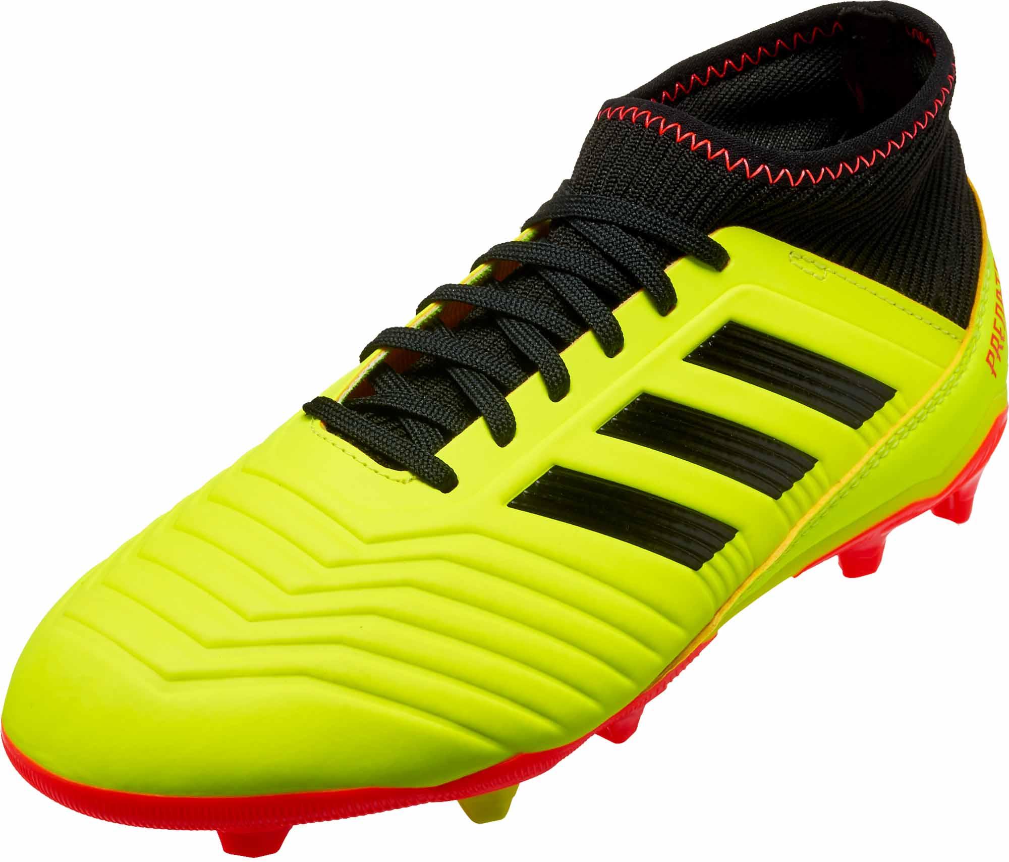 e6aa5f361c7f adidas Predator 18.3 FG - Youth - Solar Yellow Black Solar Red